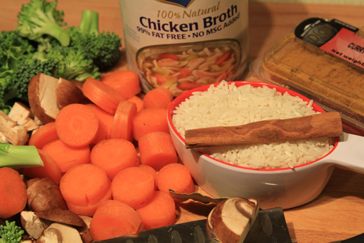 Chicken Pilaf Ingredients