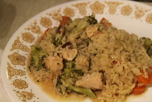 Quick chicken rice pilaf