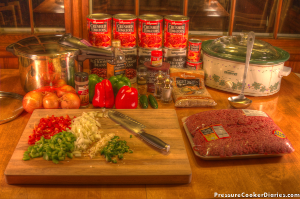 Pressure Cooker Chili Energy Efficiency Challenge